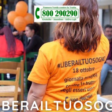 Lunedì 18 ottobre la 15esima Giornata Europea contro la tratta