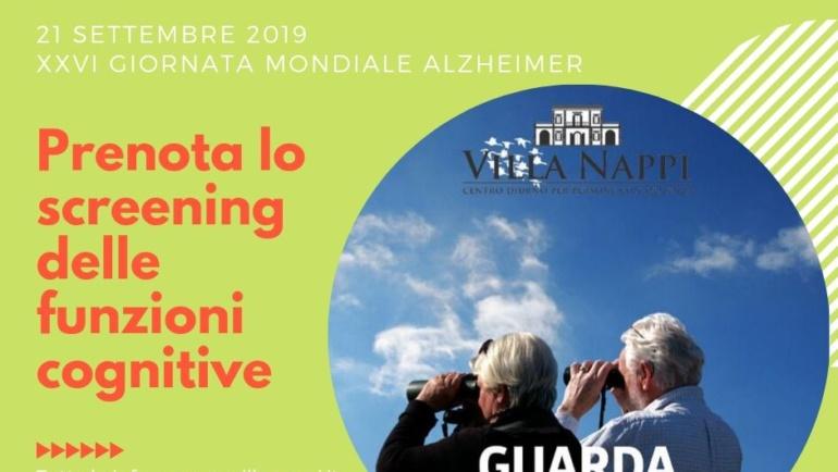 Settembre Alzheimer, screening gratuito a Villa Nappi