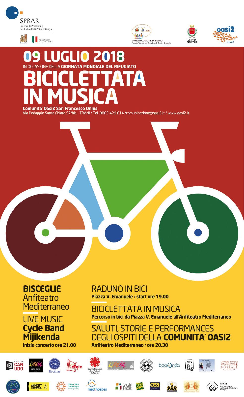 Biciclettata in musica