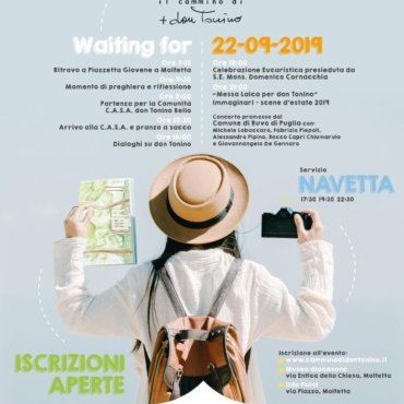 Waiting for… Il Cammino di don Tonino. Evento lancio